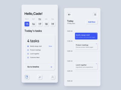 schedule app(Neumorphism / soft ui)