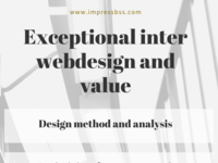 Exceptional inter webdesign and value