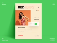 Red shirt icon illustration web web design webdesign website 设计 ux ui design plant