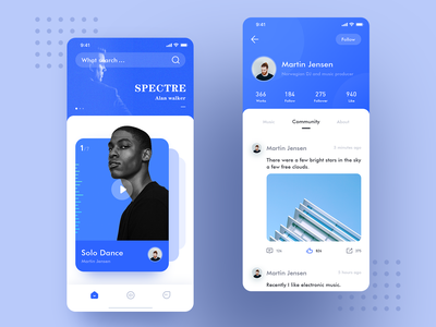 HAI GE-Music Interface illustration 应用 team 设计 icon ux app ui design