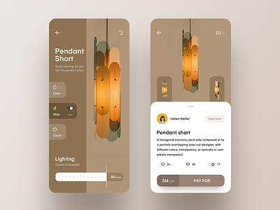 Smart home mall furniture smart ui app design