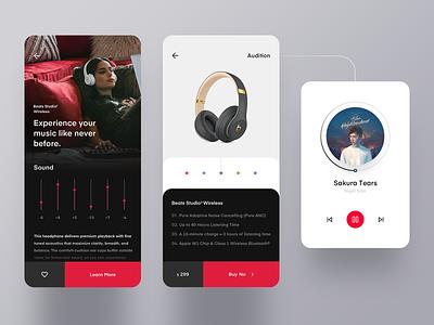 Beats app 设计 ux ui design