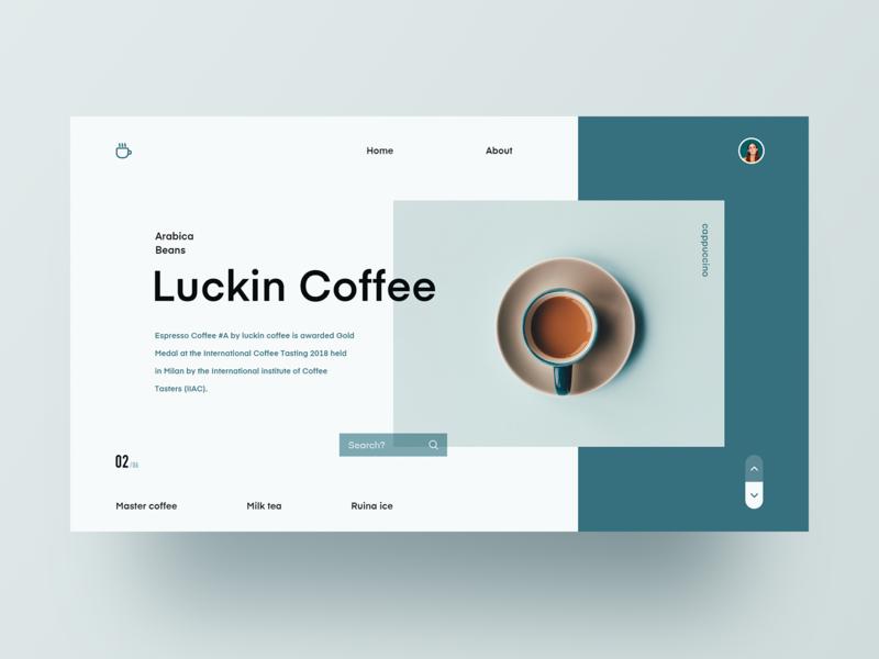 Luckin Coffee web design webdesign photo plan 设计 ux ui design