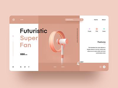 Future Concept web design ux design 设计 ui