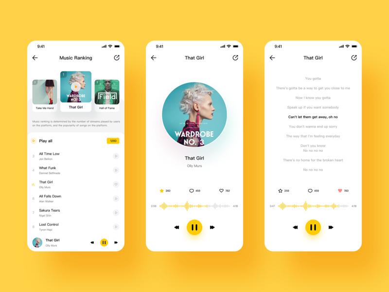 Music - Function icon app 设计 ux ui design