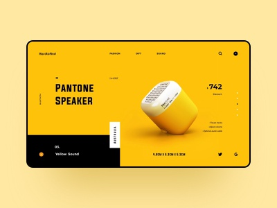 Pantone Speaker website webdesign web ux ui design