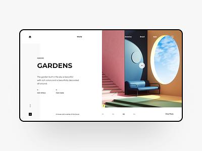 Gardens web web design webdesign website ux ui design