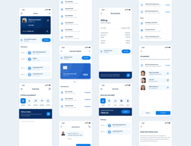 Roomstay payment app ui designs mobile ui app