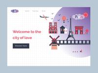 Paris Travel Landing Page