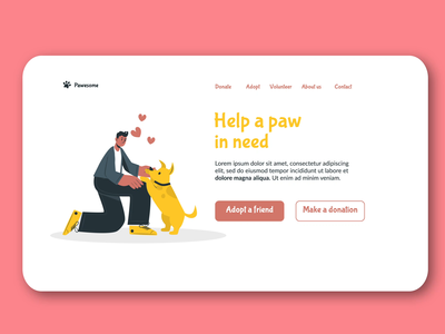 Daily UI - #003 daily 100 challenge dailyui website web minimal flat design ux ui
