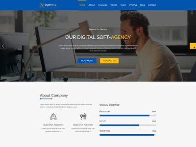 Agency PSD Template