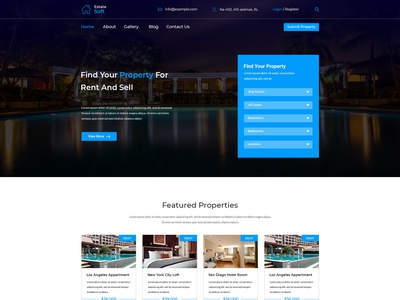 Estatesoft – Real Estate PSD Template
