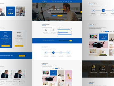 Soft-Agency PSD Template