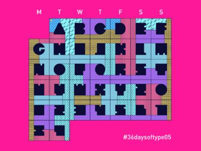 36daysoftype #5