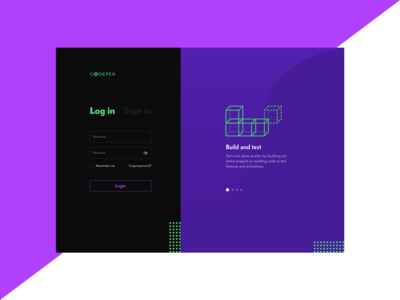 Codepen designs, themes, templates and downloadable graphic