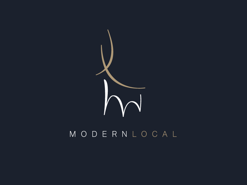 Modern Local symbolic icon simple sophisticated local modern l m initials logo deer