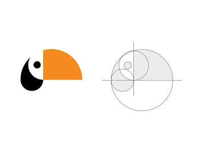 Tucan Head bold simple circle logo head tucan