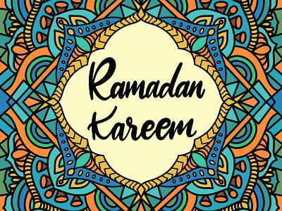 Ramadan Kareem Mandala lettering kaleidoscope pattern mandalas mandala background illustration design illustration art mandala illustration mandala ramadan mubarak ramadhan ramadan kareem ramadan