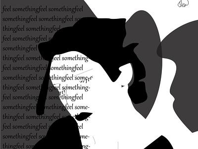 Feel Somethin typo vector illustration vector art illustraion typography art typogaphy illustrations lineart artsy emotions artwork illustration art graphic  design artist illustration illustrator