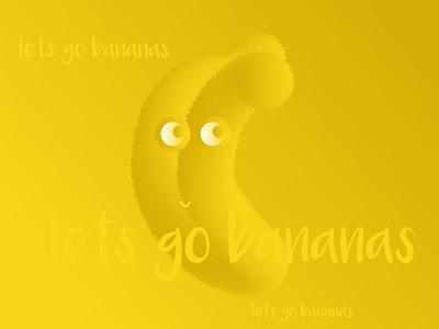 Lets Go Bananas! character design banana cute fun nyc montreal artsy artwork artist illustration art illustrator art illustrator cc design art illustration illustrator illustrations 3d artist 3d art 3d