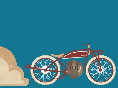 1920's Motorcycle poster motorcycle dust 1920 color in progress simple