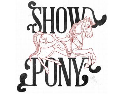 Showpony Logo logo showpony horse pony carousel class project line work illustration flourishes two color logo