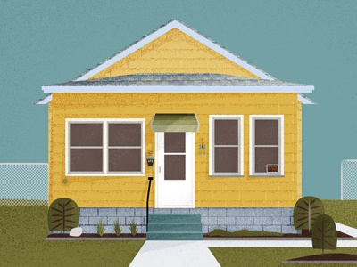 The Yellow House yellow house illustration texture progress home landscape design