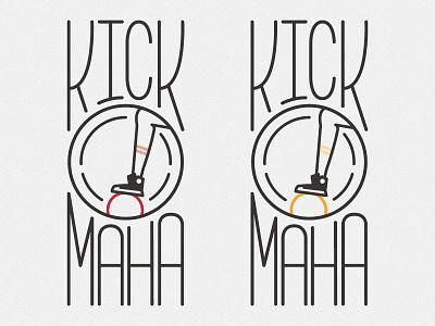 Kick Omaha omaha typography kickball logo mono weight