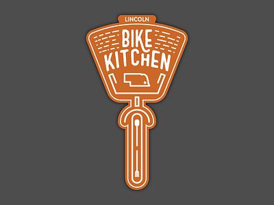 Lincoln Bike Kitchen Logo line simple non-profit logo