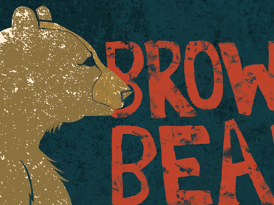 Brown Bear Don't Care illustration graphic design typography texture