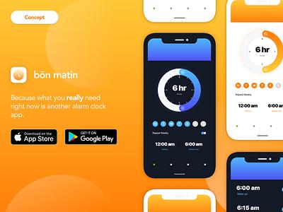 Alarm Clock App Concept mobile app design product design ui app concept