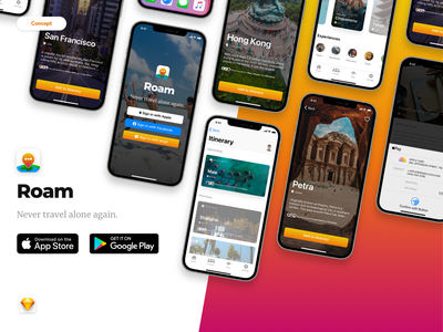 Travel App Concept product design mobile app design ui app concept