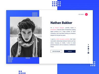 Portfolio Mockup concept web design portfolio