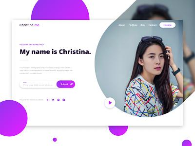 Portfolio Mockup portfolio web design concept