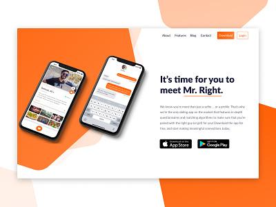 App Landing Page Mockup ux web design app concept