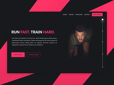 Gym Landing Page Mockup gym web design concept