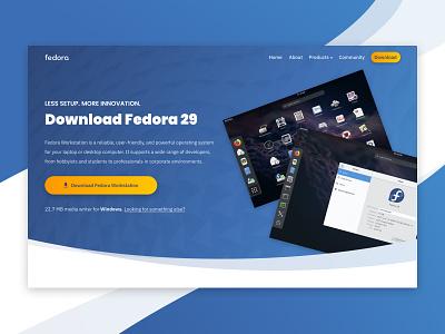 Concept Download Page website linux design web design concept