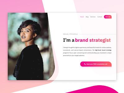 Concept Portfolio Hero Section website portfolio web design concept
