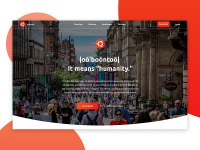 Concept Landing Page Hero Section linux website web design concept