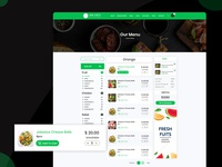 Restaurant Website Menu Page.