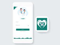 Hospital Apps login page Design