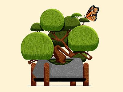 🌱 procreate plant butterfly bonsai