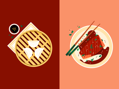 🥟🥟🥟 restaurant dining food teriyaki salmon dim sum
