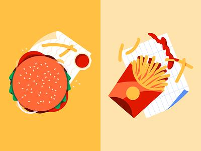 🍔🍟 fast food takeaway fries burger