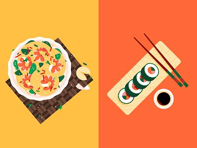 🍤🍣 restaurant food sushi noodles