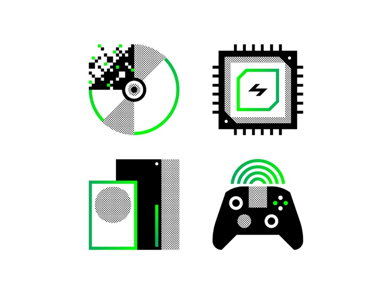 Next Gen xbox digital controller icon gaming