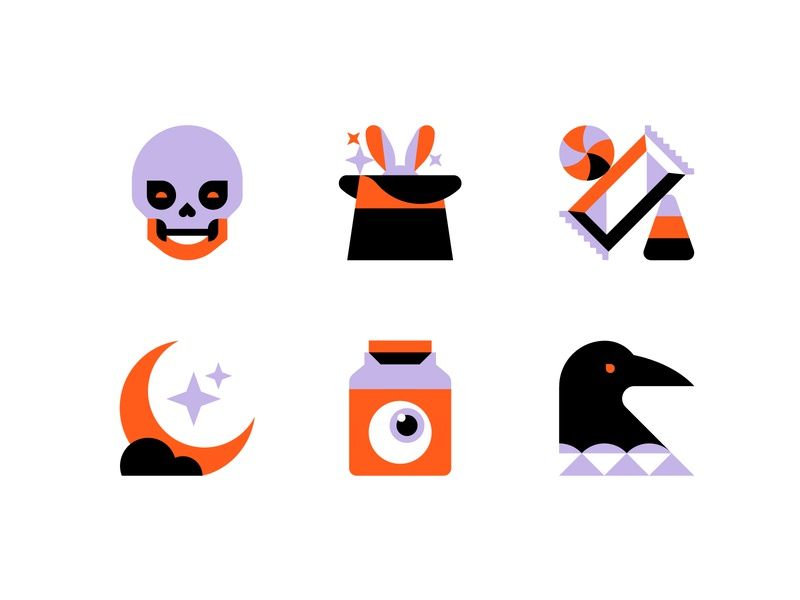 Spooky Season Pt. 2 skull magic moon crow candy halloween