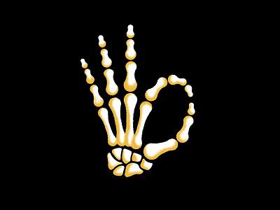 💀 halloween hand skeleton