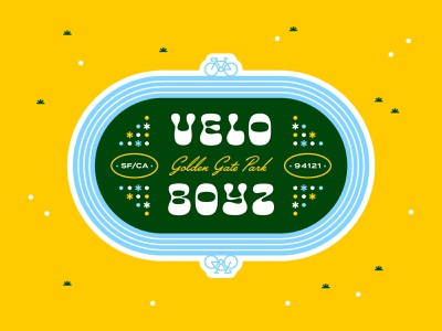 Velo Boyz typogaphy identity logo velo golden gate park san francisco cycling bicycle