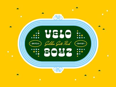 Velo Boyz typogaphy identity logo velo golden gate park san francisco cycling bicycle